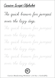 20 Best Printable Handwriting Worksheets For Tracing