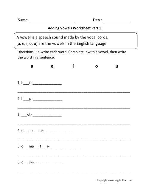 small resolution of Englishlinxcom   Vowels Worksheets on Worksheets Ideas 3699