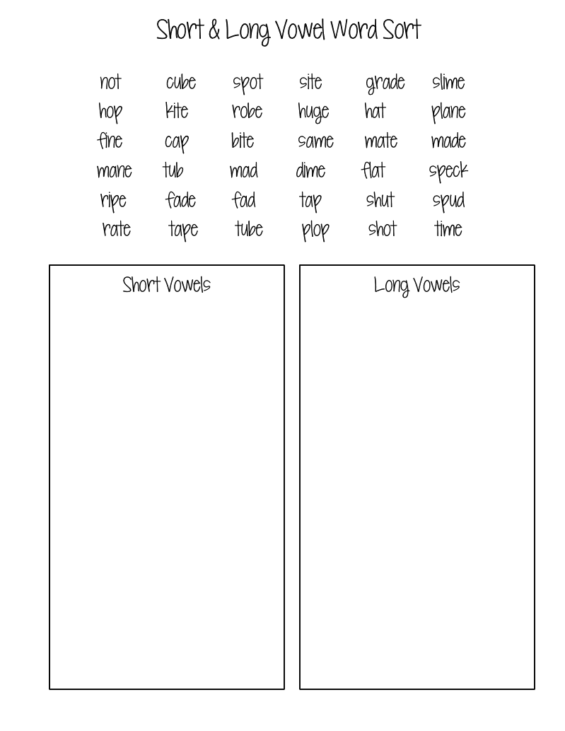 hight resolution of Pin By Annalise Latta On Teaching Ideas   Vowel Worksheets on Worksheets  Ideas 7052