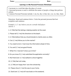 17 Best Pronouns Worksheets Grade 2 images on Worksheets Ideas [ 2200 x 1700 Pixel ]
