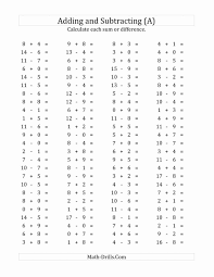 18 Best Addition And Subtraction Worksheets 1st Grade