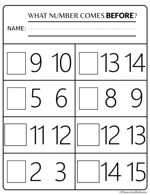 small resolution of 21 Best Before And After Numbers 1 20 Worksheets images on Worksheets Ideas
