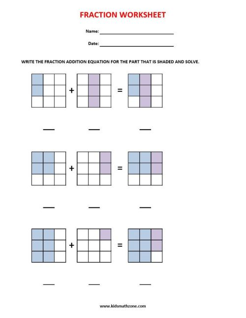 small resolution of Fractions (36 Worksheets) / Equivalent Fractions