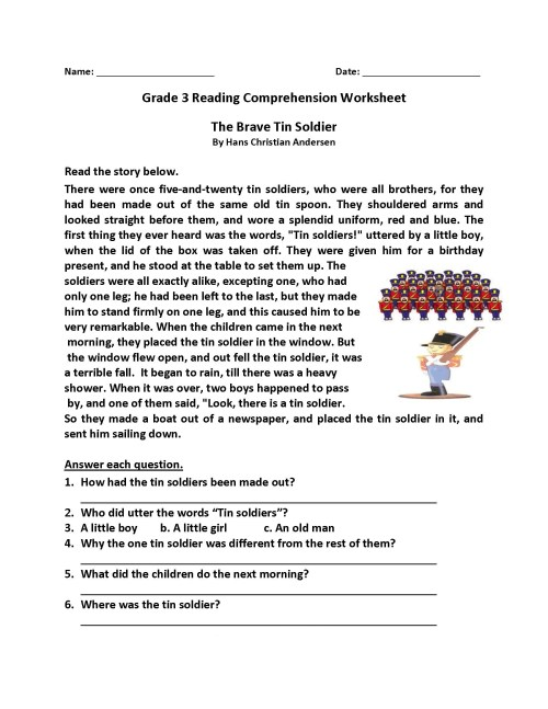 small resolution of 27 Best Comprehension Worksheets 3rd Grade images on Worksheets Ideas