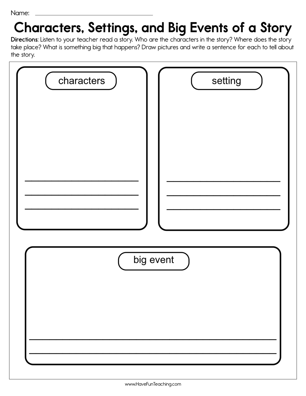 medium resolution of Story Elements Worksheets   Have Fun Teaching on Worksheets Ideas 780