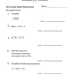 14 Best 9th Grade Science Worksheets images on Worksheets Ideas [ 1035 x 800 Pixel ]