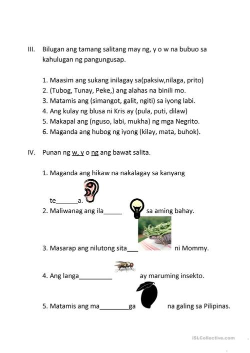 small resolution of 19 Best Tagalog Worksheets images on Worksheets Ideas