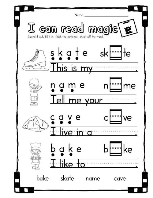 small resolution of 15 Best Magic E Worksheets images on Worksheets Ideas