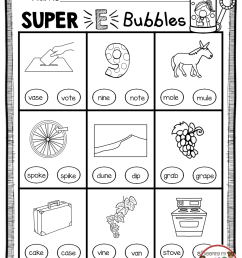 14 Best Phonics Worksheets Silent E images on Worksheets Ideas [ 1162 x 892 Pixel ]
