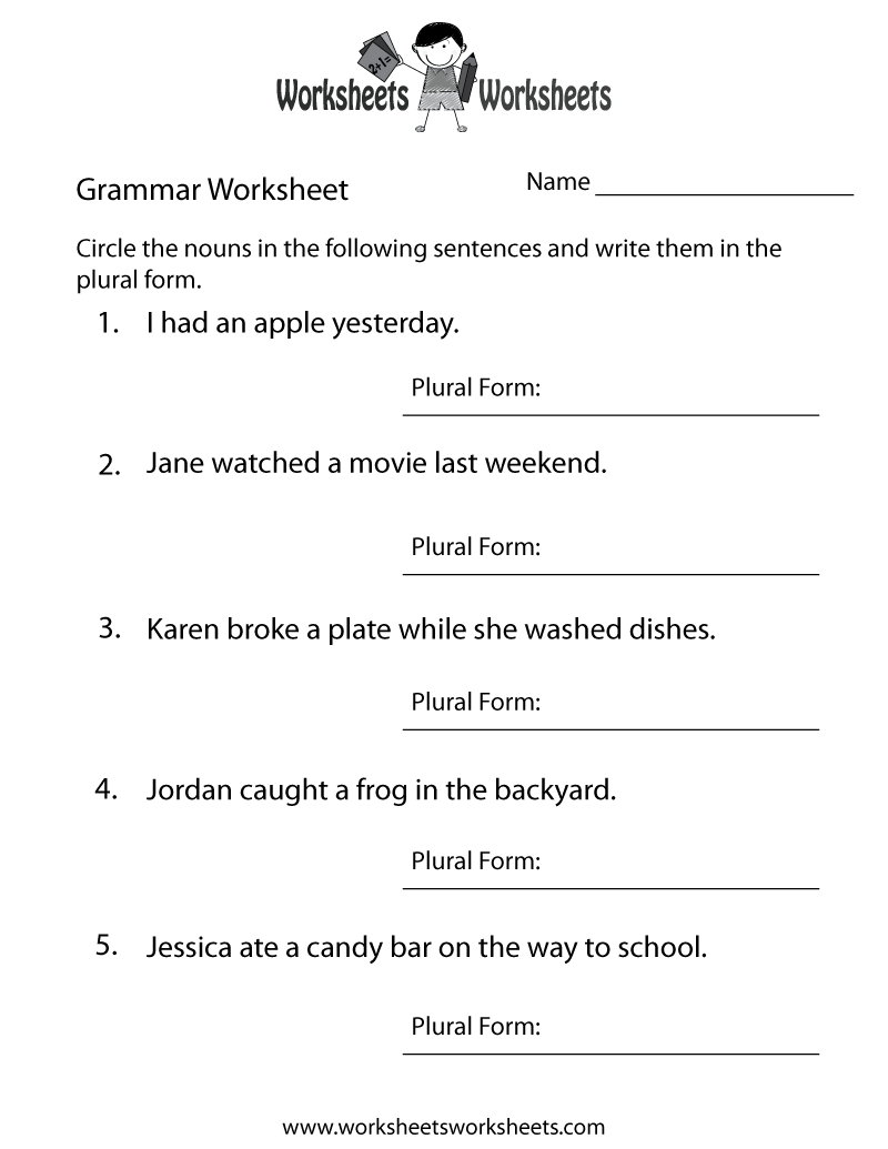 hight resolution of 17 Best Printable Grammar Worksheets images on Worksheets Ideas