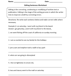 15 Best Paragraph Editing Worksheets images on Worksheets Ideas [ 1650 x 1275 Pixel ]