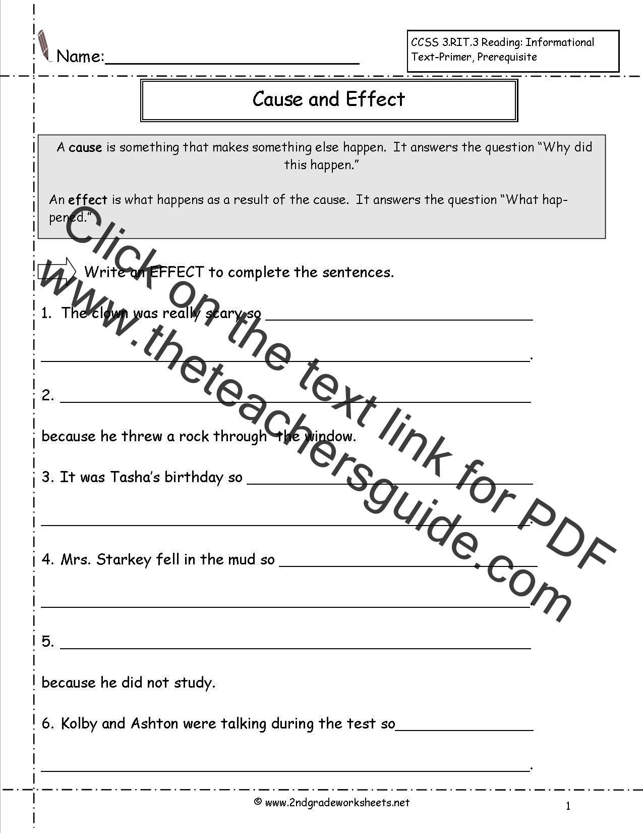 hight resolution of 20 Best Cause And Effect Worksheets images on Worksheets Ideas