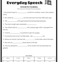 12 Best Third Grade Vocabulary Worksheets images on Worksheets Ideas [ 3300 x 2550 Pixel ]