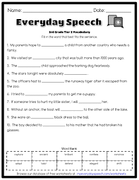 small resolution of 12 Best Third Grade Vocabulary Worksheets images on Worksheets Ideas