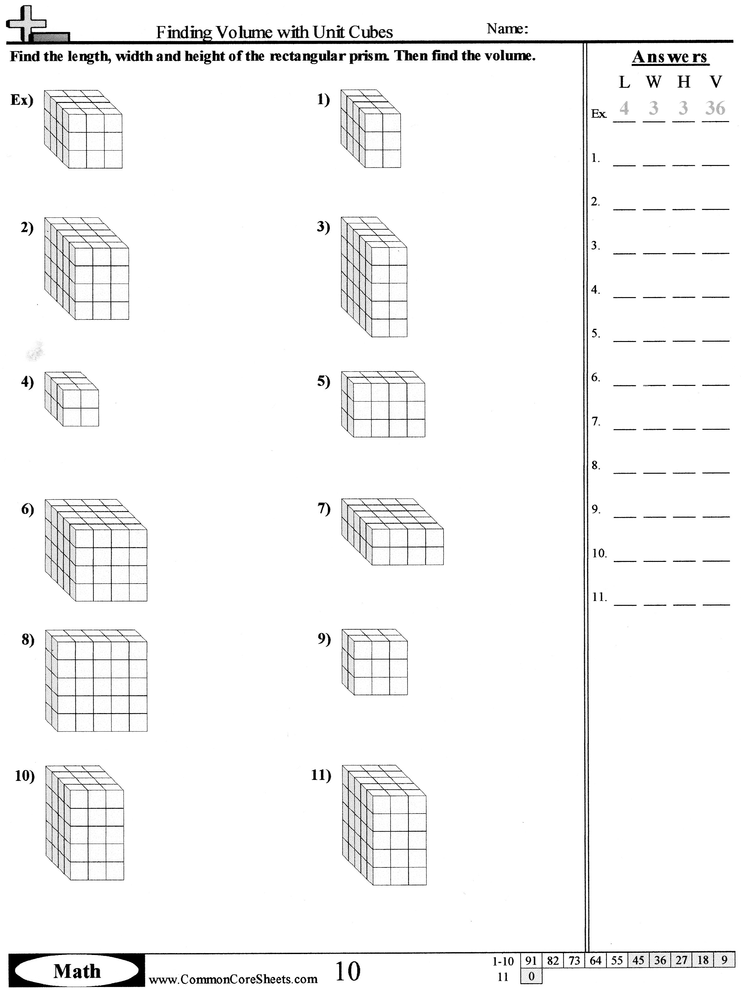 Rectangular Prism Tracing Worksheet