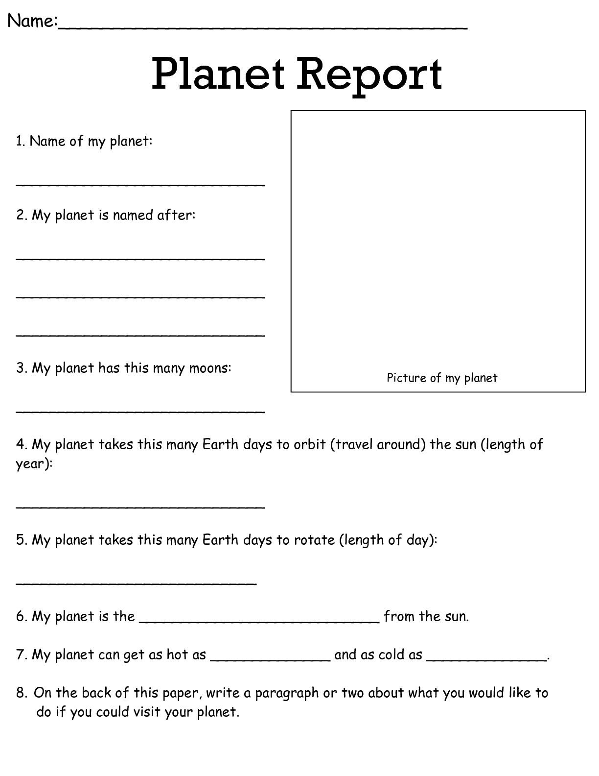 hight resolution of 9 Best Science Planets Worksheets For 5th Graders images on Worksheets Ideas