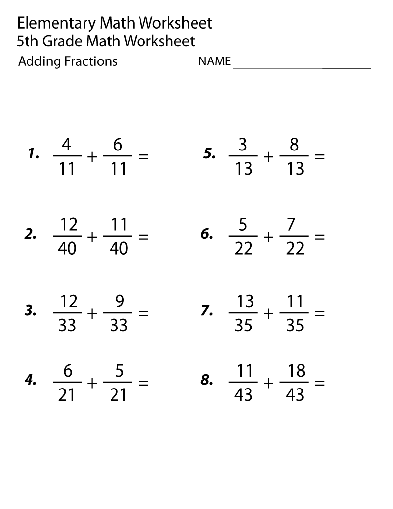 hight resolution of 5th Grade Math Worksheets Adding Fraction   Math Worksheets on Worksheets  Ideas 258