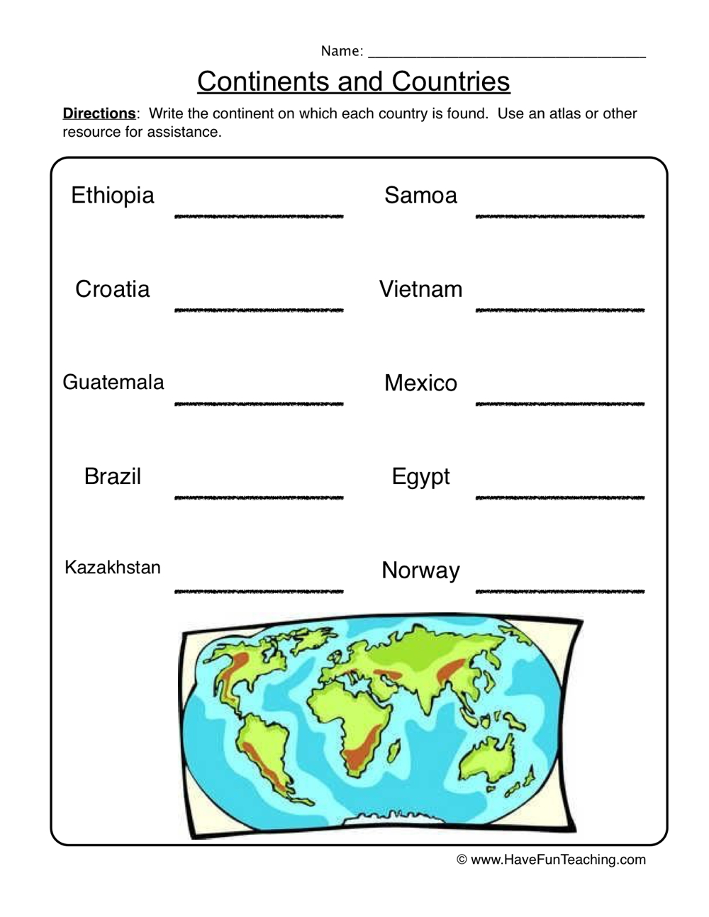 hight resolution of 18 Best Geography Worksheets images on Worksheets Ideas