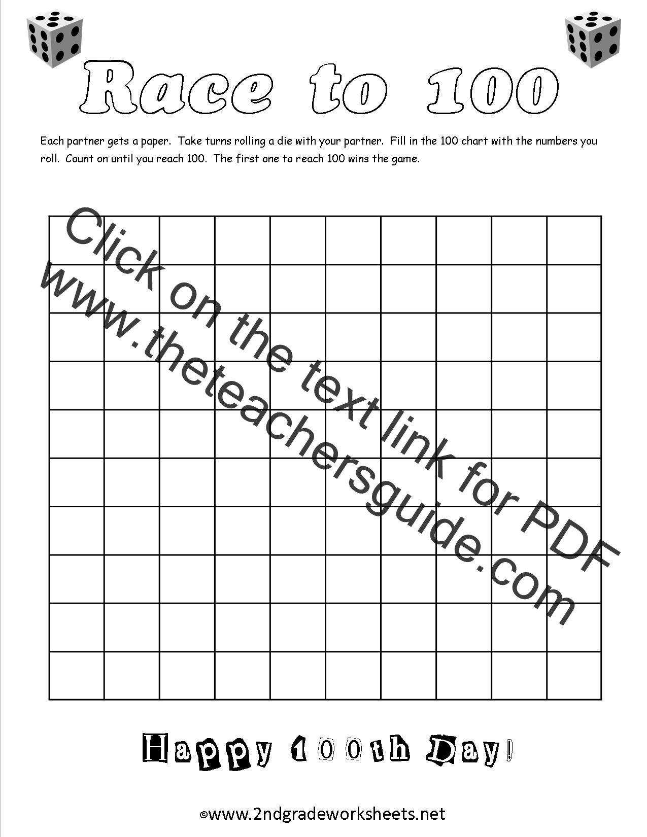 100th Day Of School Worksheets And Printouts On Worksheets