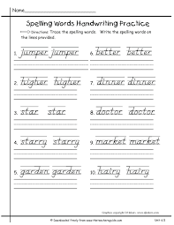 small resolution of Handwriting Practice Second Grade Cursive Writing Worksheets on Worksheets  Ideas 4459