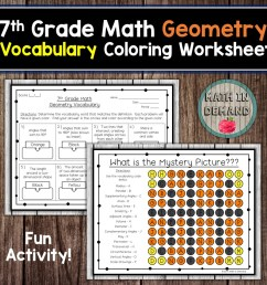 7th Grade Math Vocabulary Coloring Worksheets   Math In Demand on Worksheets  Ideas 3394 [ 960 x 960 Pixel ]