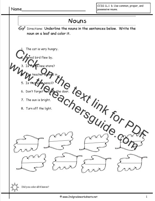 small resolution of 17 Best Noun Worksheets Grade 2 images on Worksheets Ideas