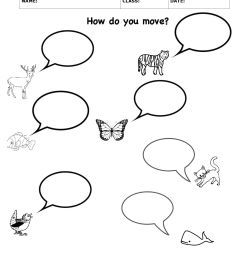How Animals Move   Science Worksheets [ 2200 x 1700 Pixel ]