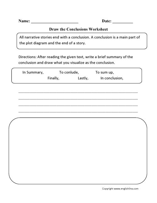 small resolution of Writing Conclusions Worksheets   Draw The Conclusions Worksheet on  Worksheets Ideas 6966