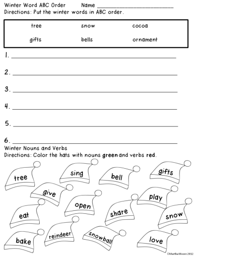 small resolution of Freebie Winter Worksheets 1st Grade on Worksheets Ideas 5385