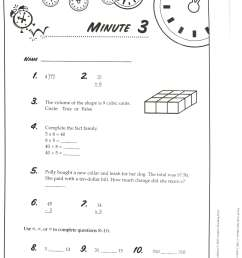 14 Best Daily Math Worksheets images on Worksheets Ideas [ 3072 x 2560 Pixel ]