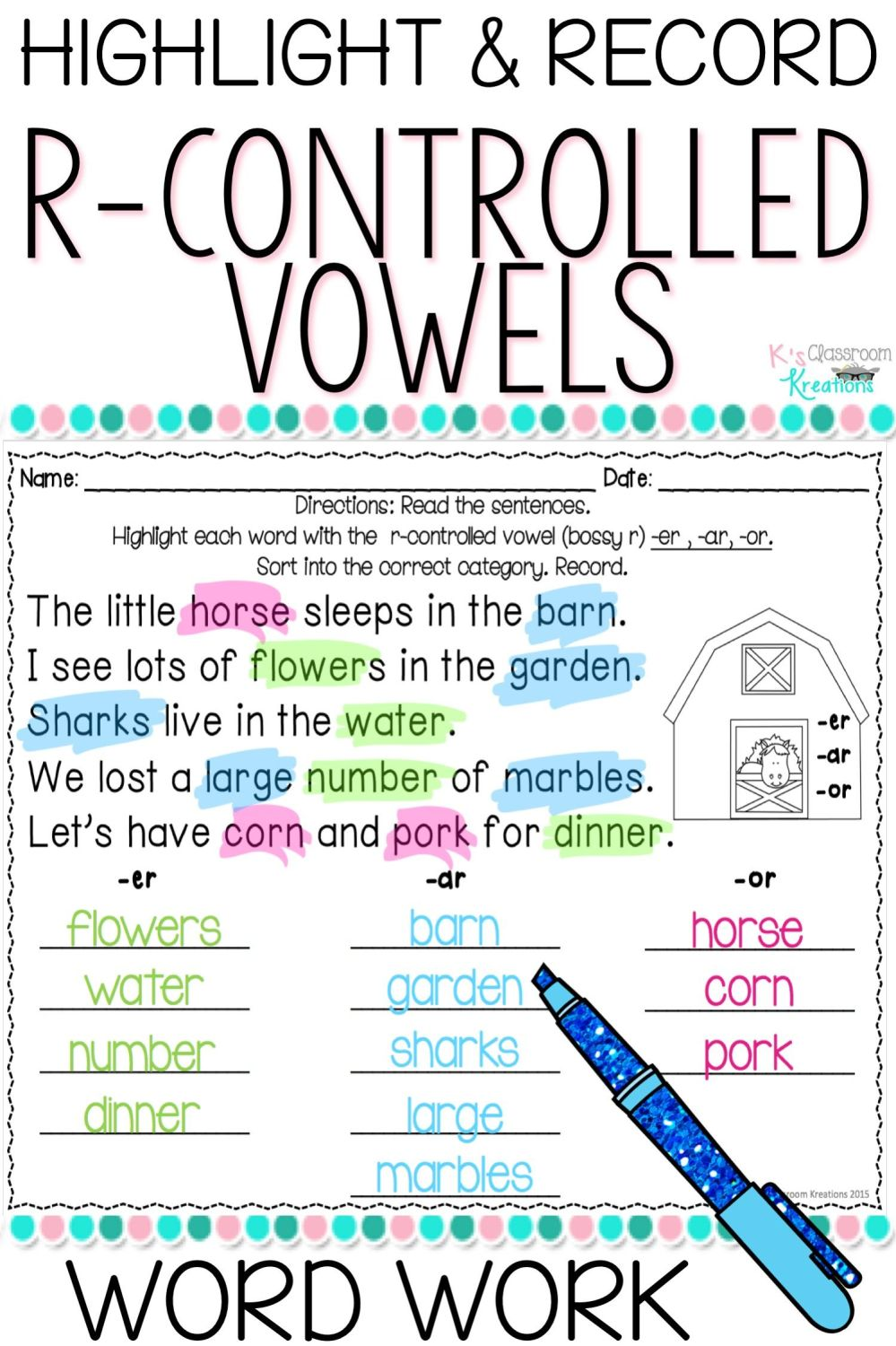 medium resolution of 18 Best Ar Word Family Worksheets images on Worksheets Ideas