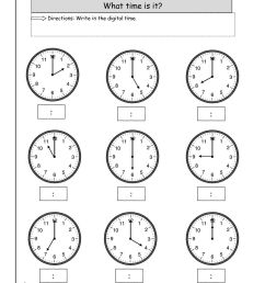 Telling Time Worksheets - O'clock And Half Past   2nd Grade on Worksheets  Ideas 5997 [ 1584 x 1224 Pixel ]