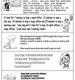 4 Free Math Worksheets Third Grade 3 Addition Word Problems on Worksheets  Ideas 3084 [ 1736 x 1226 Pixel ]