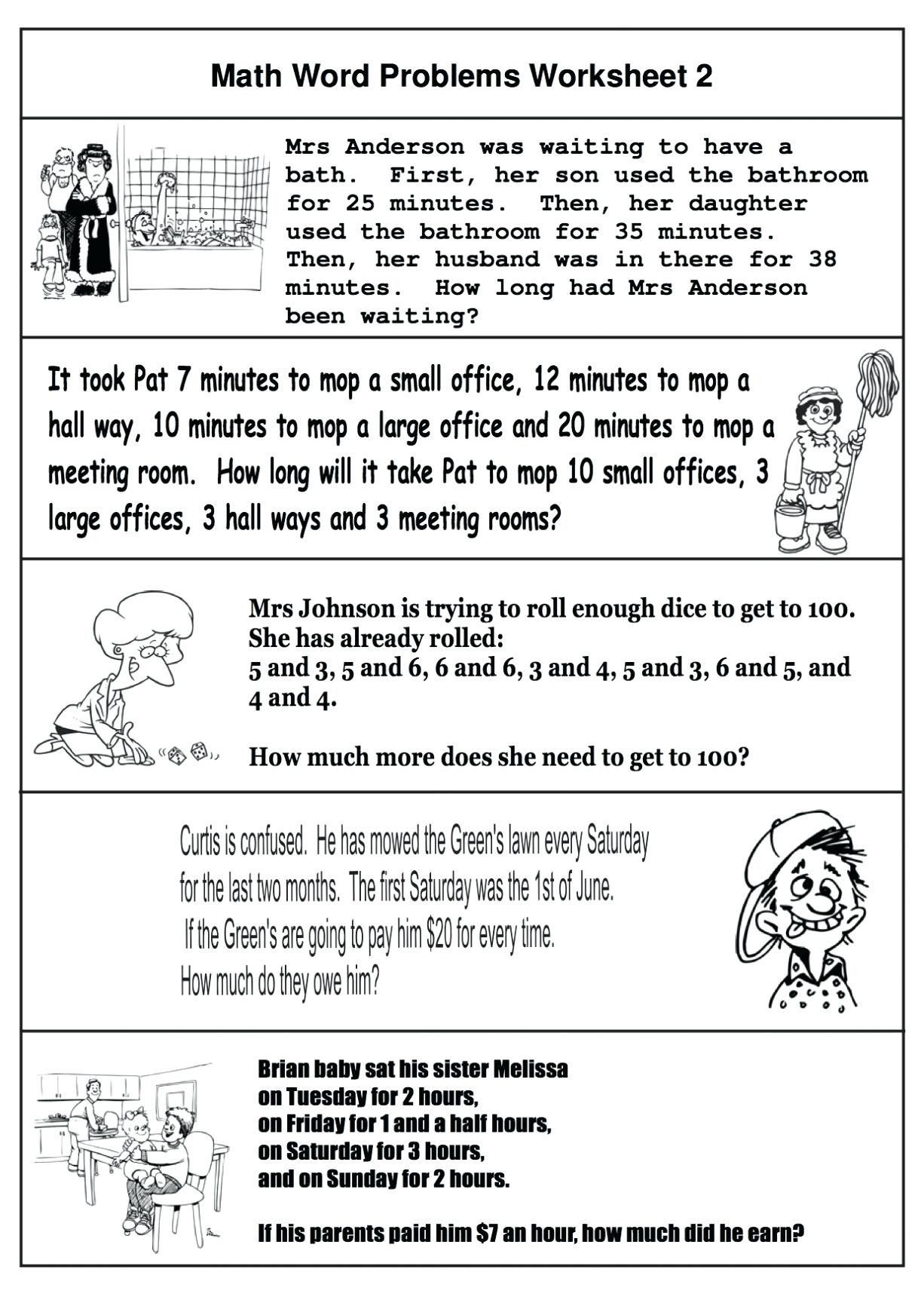 hight resolution of 4 Free Math Worksheets Third Grade 3 Addition Word Problems on Worksheets  Ideas 3084