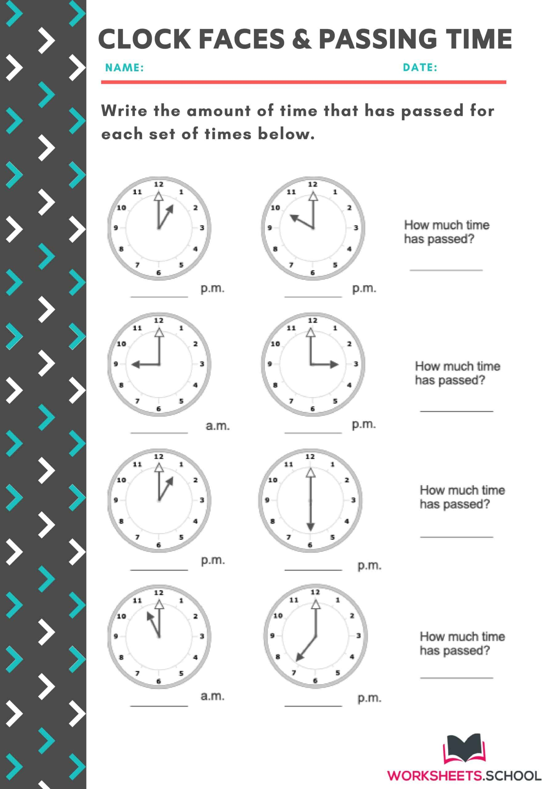 10 Elapsed Time Worksheets 3rd Grade 100 Free