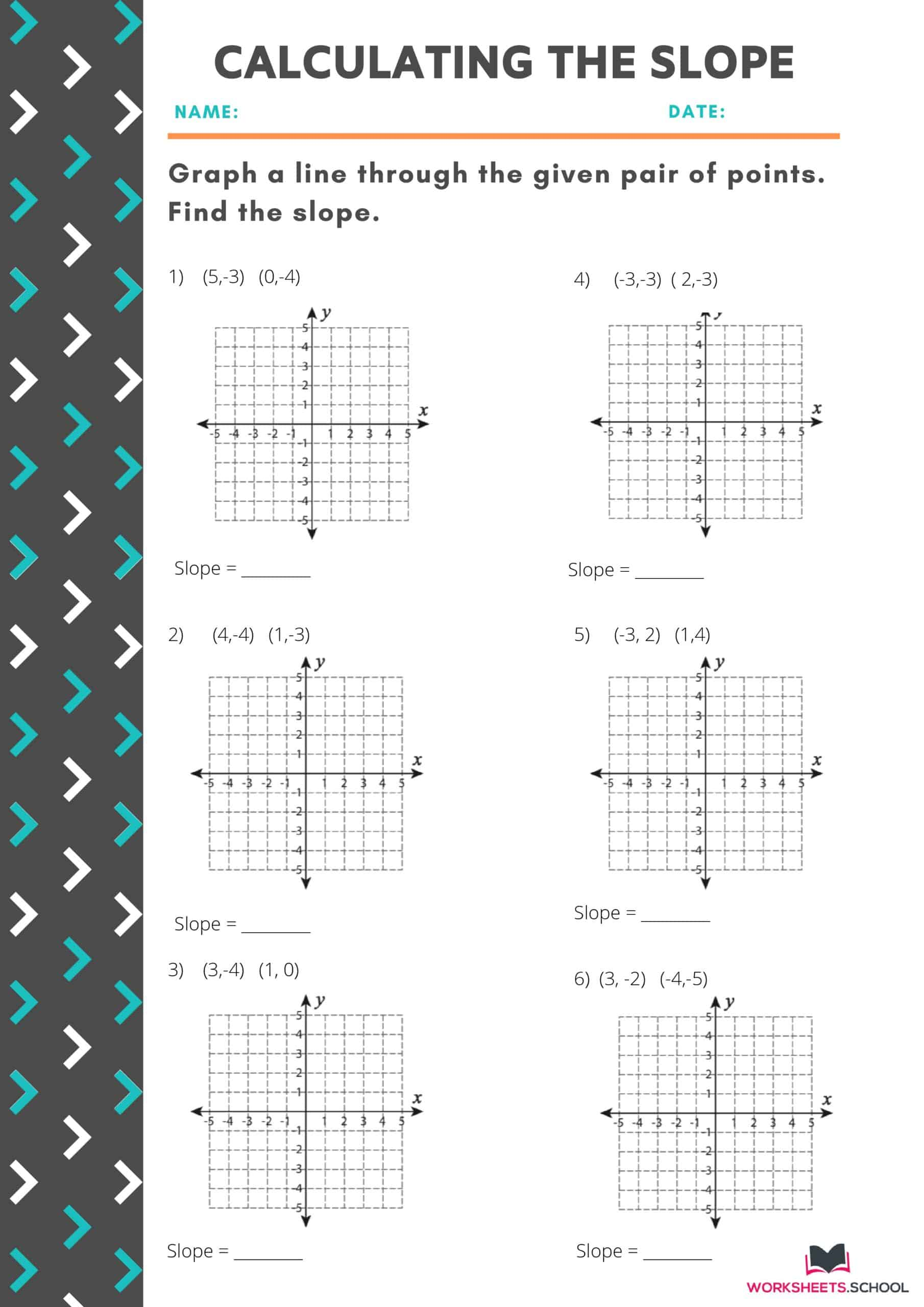 10 Variations Of Slope Worksheets With Answers