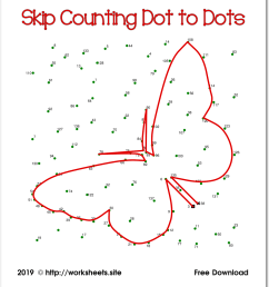 Skip Counting Dot to Dots [ 1369 x 1245 Pixel ]