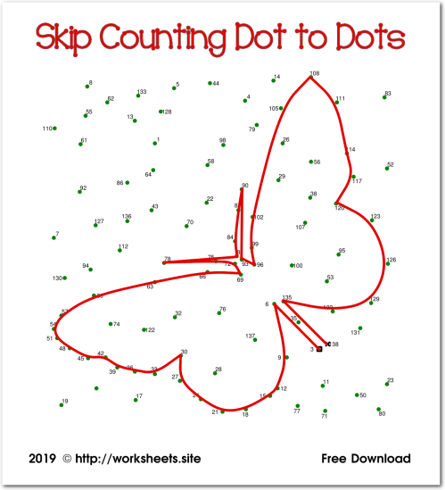small resolution of Skip Counting Dot to Dots
