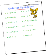 All Worksheets  Order Of Operations Worksheets With