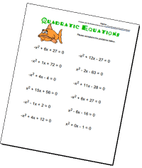 Math Worksheet Quadratics - Rcnschool