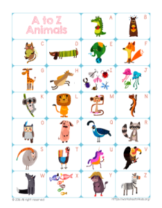 A To Z Alphabet Chart With Pictures Pdf Www Homeschoolingforfree Org