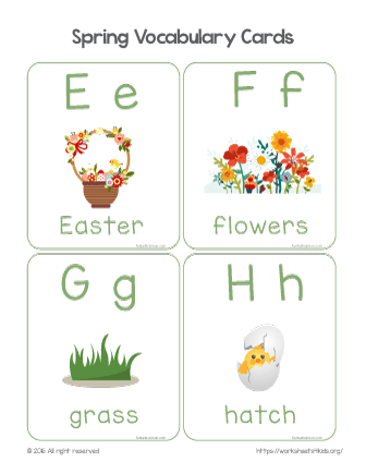 spring related words