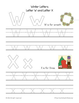 tracing letters of the alphabet