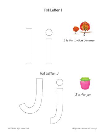 coloring letter i