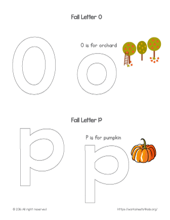 coloring letter o