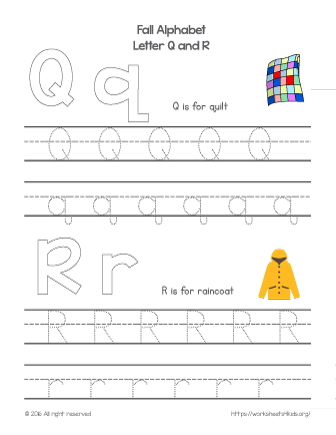 tracing letter q