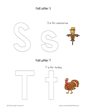 Coloring Letter S and T