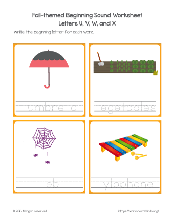 letter sound worksheet