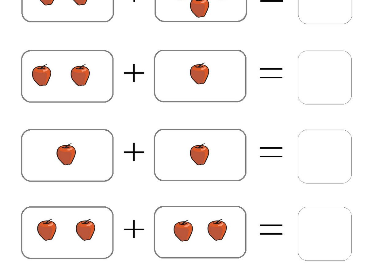 Addition Picture Worksheets