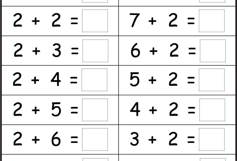 Free Printable Addition Worksheets For Kindergarten